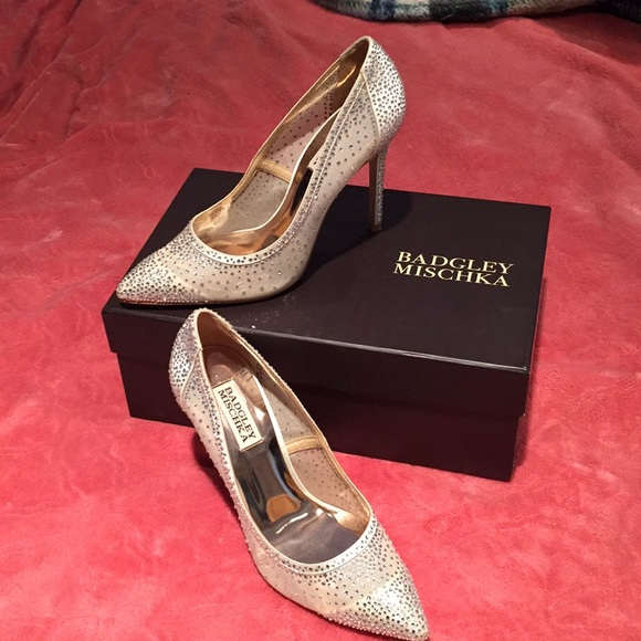 Badgley Mischka Shoes - Badgley Mischka Crystal Heels size 7